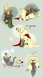 dog_thor_cat_loki_by_littledarkdragon-d541nze