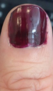 Ignore the blurry picture and my horrible nail polish application skills.